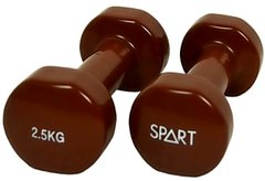 Гантели Spart Vinyl Dumbbell 2,5 kg (DB2113-2,5Brown)